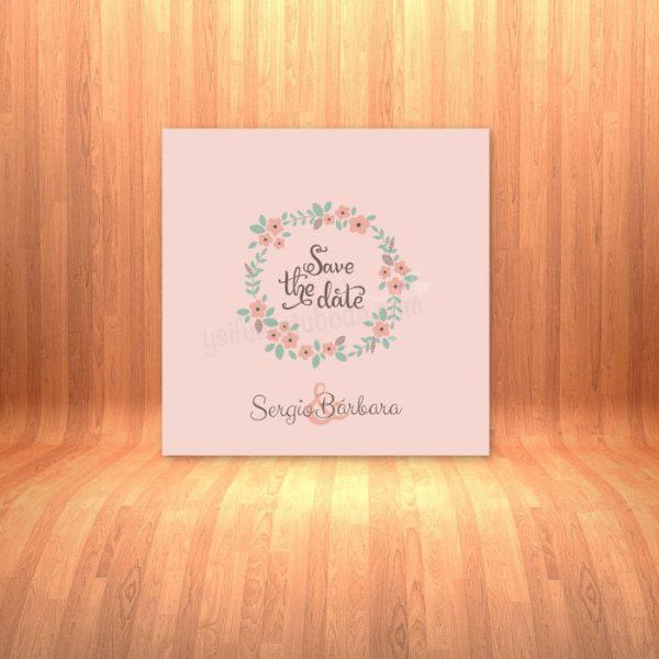 Invitación de boda minimalista Save the date